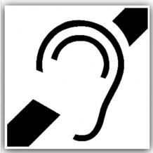 1 x Hard of Hearing Induction Loop Stickers-Self Adhesive Vinyl Stickers-Disabled,Disability,Hearing,Deaf Signs
